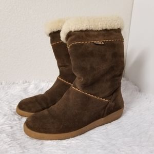 TECNICA Brown suede winter boots size